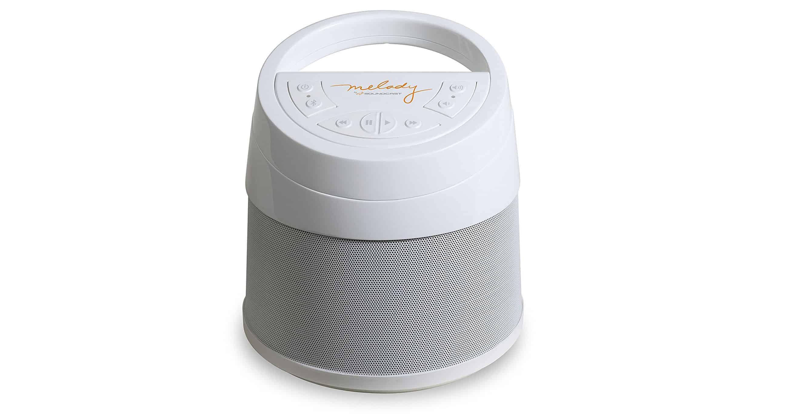Soundcast Melody Speaker Portable White Background